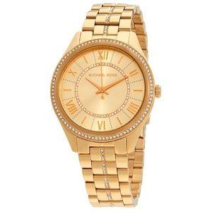 Gold Lauryn Crystal-set Ladies Watch  Mk3719